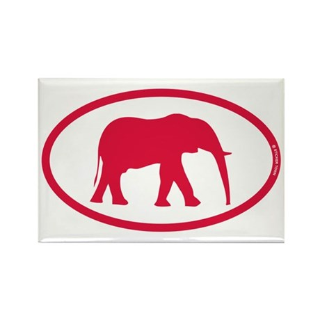 Alabama Red Elephant II Rectangle Magnet