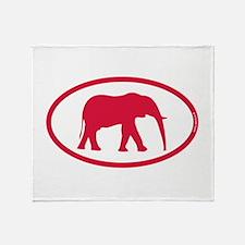 Alabama Red Elephant II Throw Blanket