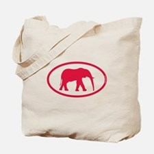 Alabama Red Elephant II Tote Bag
