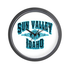 Sun Valley Black Ice Wall Clock