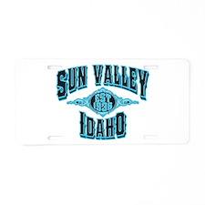 Sun Valley Black Ice Aluminum License Plate