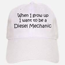 Grow Up Diesel Mechanic Baseball Baseball Cap