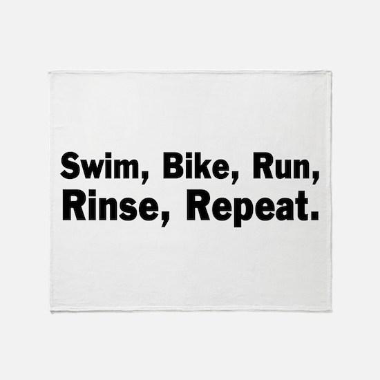 Swim, Bike, Run - Mantra Throw Blanket