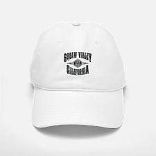 Squaw Valley Black & Silver Baseball Baseball Cap