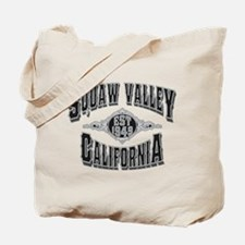 Squaw Valley Black & Silver Tote Bag