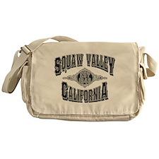 Squaw Valley Black & Silver Messenger Bag
