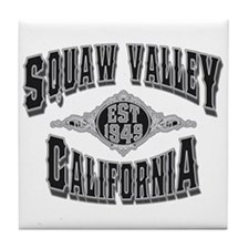 Squaw Valley Black & Silver Tile Coaster