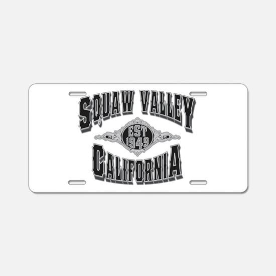 Squaw Valley Black & Silver Aluminum License Plate