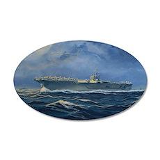 USS John F. Kennedy 22x14 Oval Wall Peel