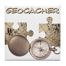 Geocacher Tile Coaster
