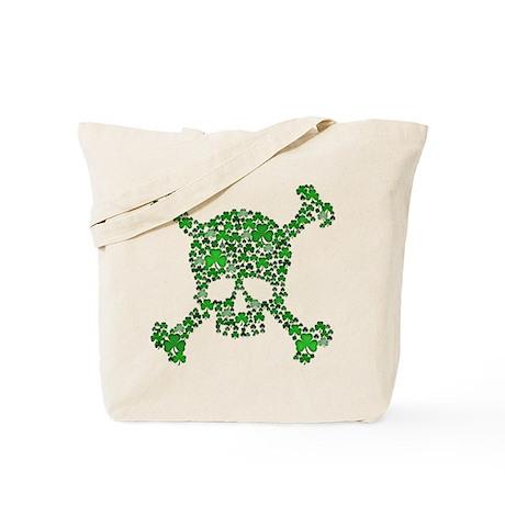 Irish Shamrock Crossbones Tote Bag