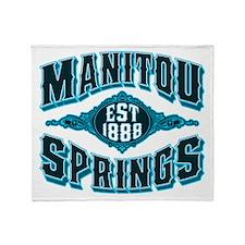Manitou Springs Black Ice Throw Blanket