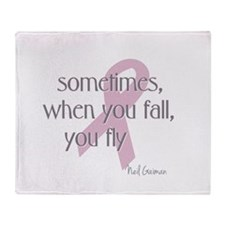 When You Fall You Fly Throw Blanket