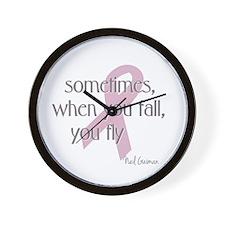 When You Fall You Fly Wall Clock