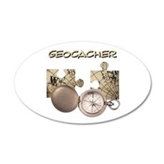 Geocacher 22x14 Oval Wall Peel
