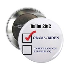 "Ballot 2012 2.25"" Button"
