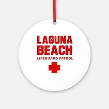 Laguna Beach Lifeguard Patrol  Ornament (Round)