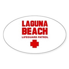 Laguna Beach Lifeguard Patrol Oval Decal