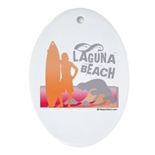 Laguna Beach -  Oval Ornament