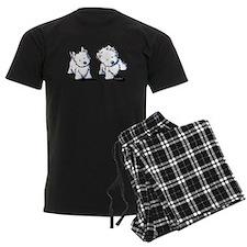 Shadowboxing Westies Pajamas