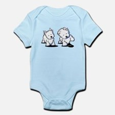 Shadowboxing Westies Infant Bodysuit