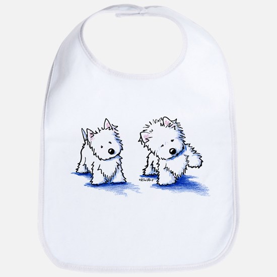 Shadowboxing Westies Bib