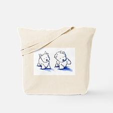 Shadowboxing Westies Tote Bag