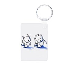Shadowboxing Westies Keychains