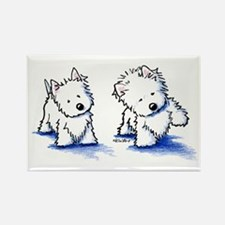 Shadowboxing Westies Rectangle Magnet