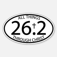26.2 Through Christ Decal