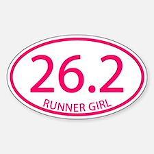 26.2 Runner Girl Marathon Decal