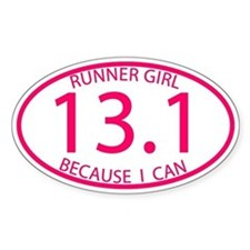 13.1 Runner Girl Because I Can Decal