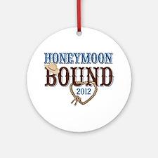 Honeymoon Bound 2012 Ornament (Round)
