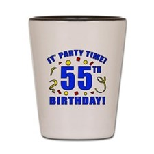 55th Birthday Party Time Shot Glass