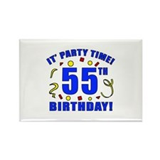 55th Birthday Party Time Rectangle Magnet