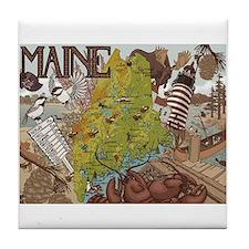 MAINE Tile Coaster
