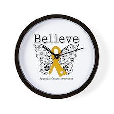 Believe Appendix Cancer Wall Clock