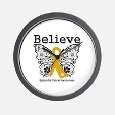 Believe Appendix Cancer Wall Clock