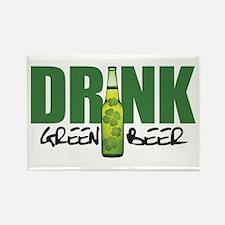 Drink Green Beer Rectangle Magnet