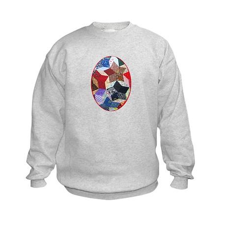 Tumbling Block Patchwork Quilt Kids Sweatshirt