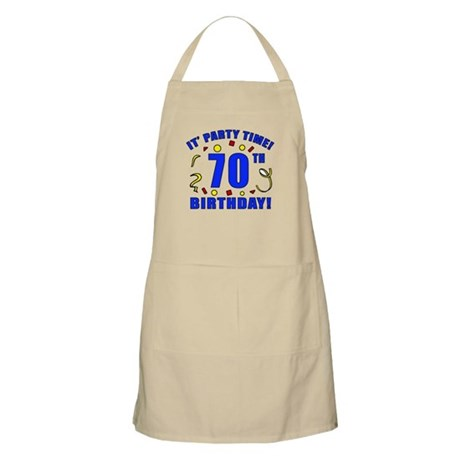 70th Birthday Party Time Apron