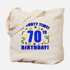 70th Birthday Party Time Tote Bag