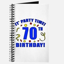 70th Birthday Party Time Journal