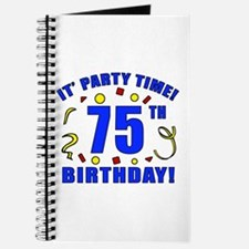 75th Birthday Party Time Journal