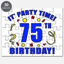75th Birthday Party Time Puzzle