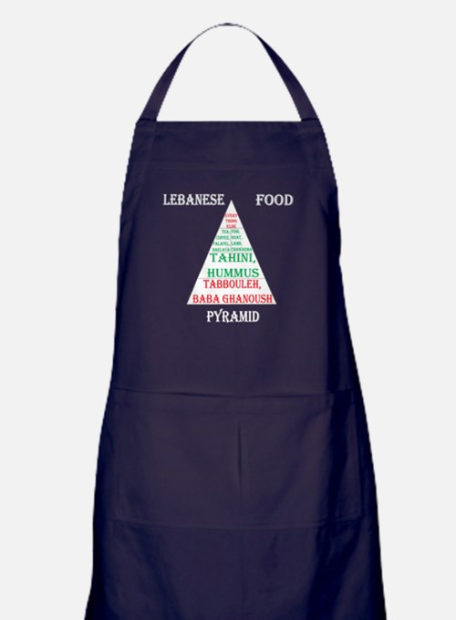 Lebanese Food Pyramid Apron (dark)