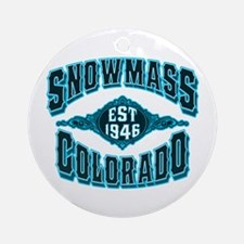 Snowmass Black Ice Ornament (Round)