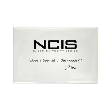 NCIS Ziva David Bear Quote Rectangle Magnet