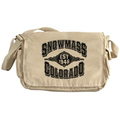 Snowmass Black & Silver Messenger Bag