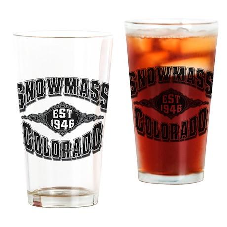 Snowmass Black & Silver Drinking Glass